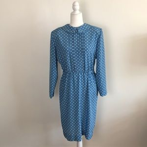 80s Polka Dot Career Dress